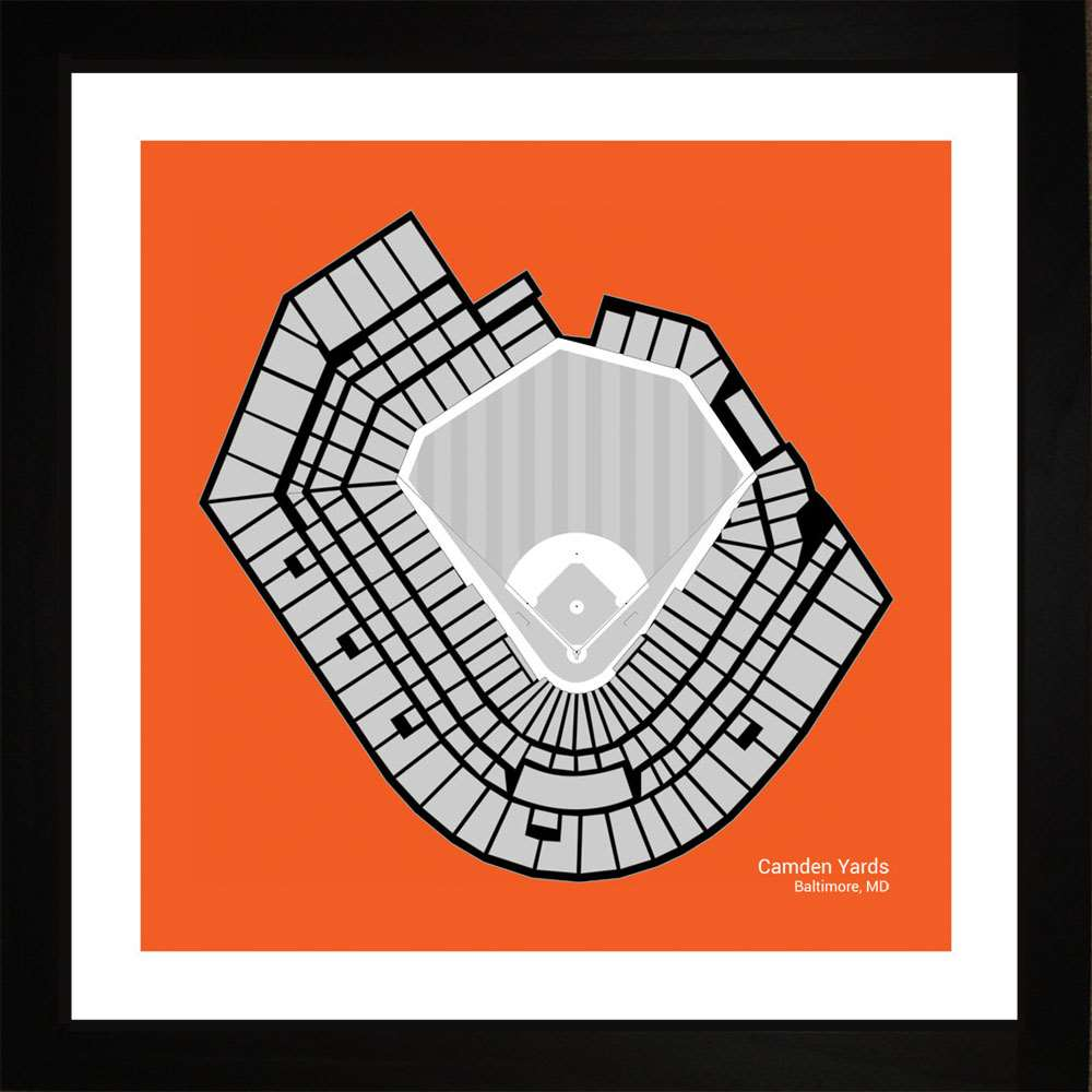 Camden Yards, Baltimore Orioles, 16x16