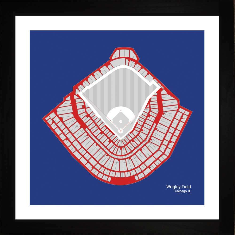 Wrigley Field, Chicago Cubs, 16x16