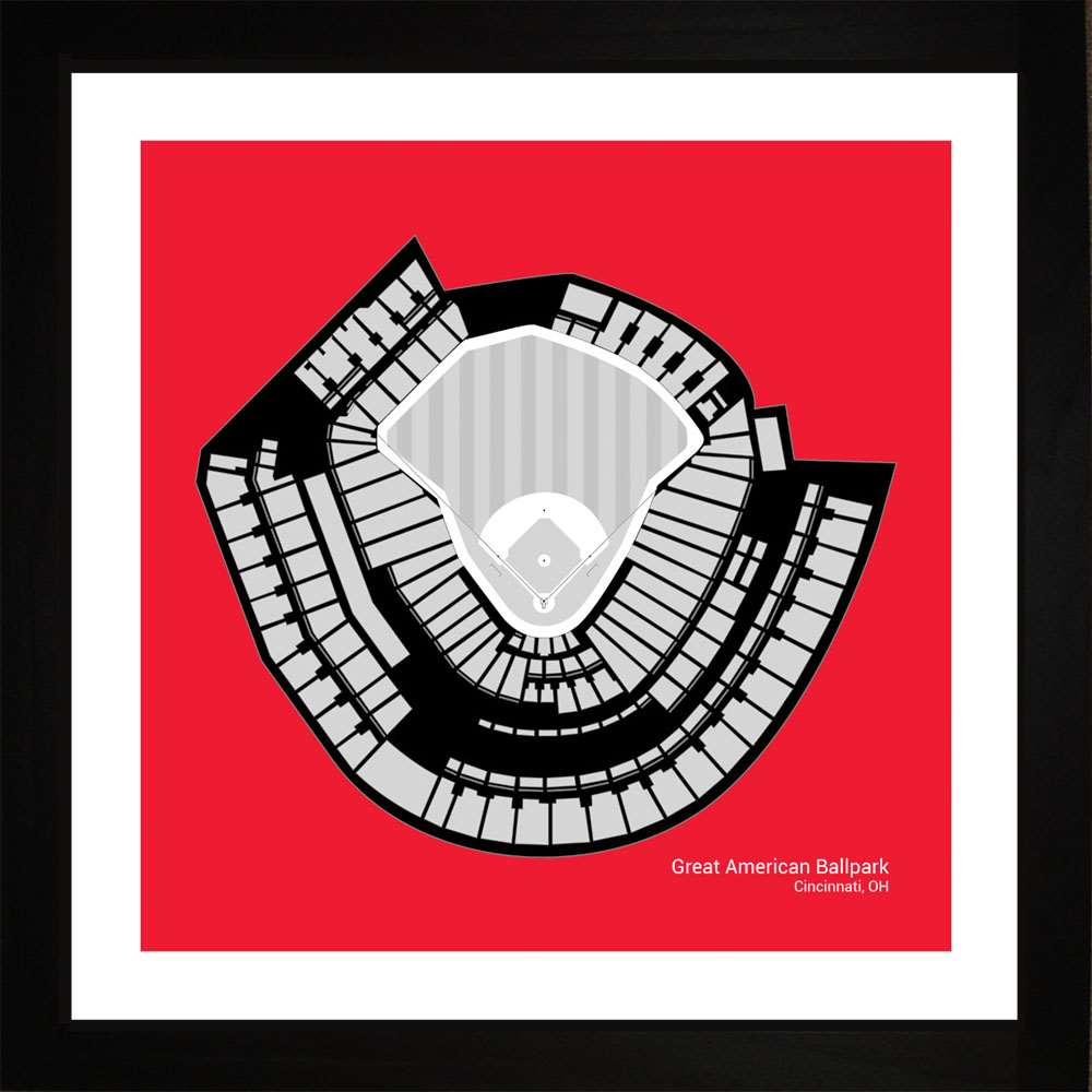 Great American Ball Park, Cincinnati Reds, 16x16
