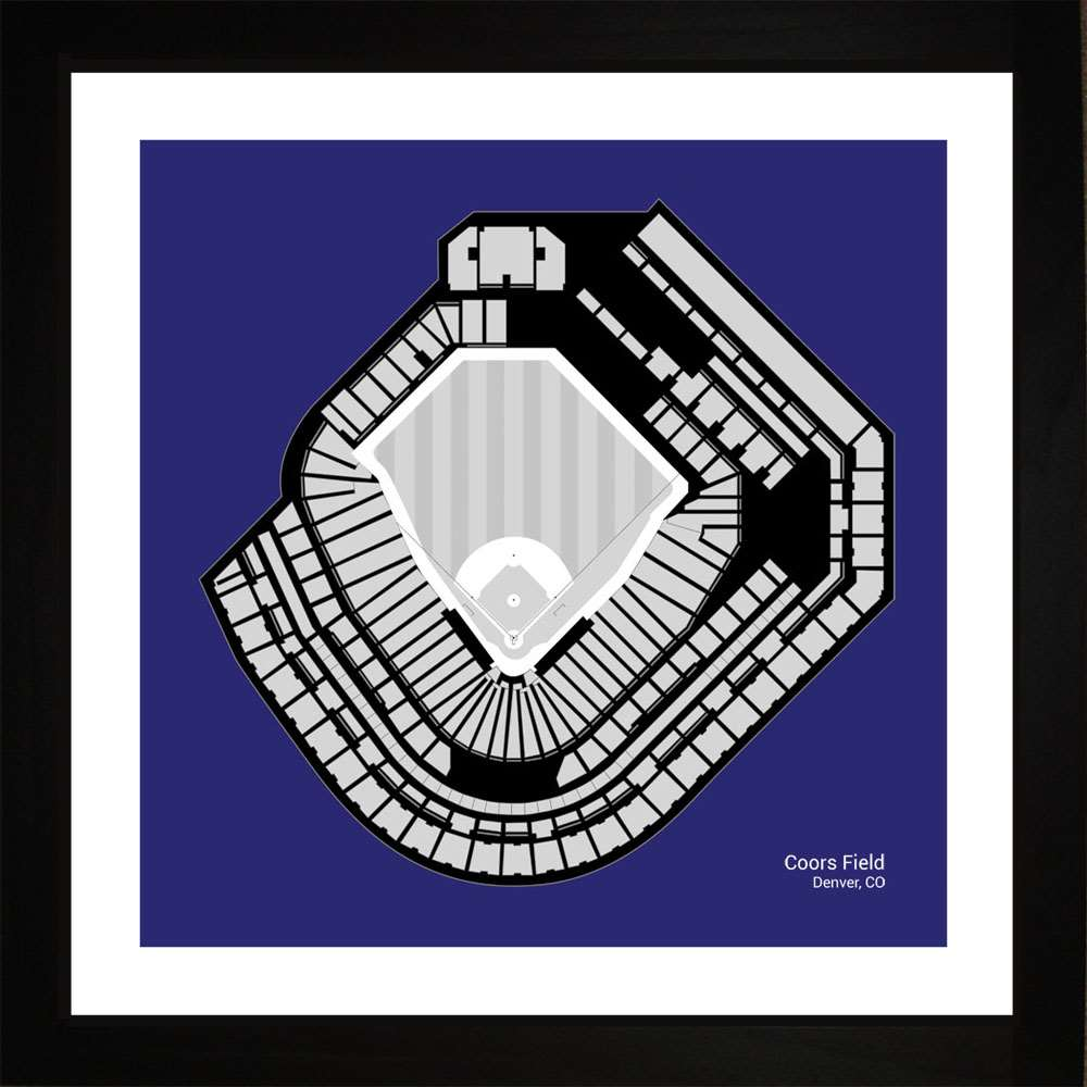 Coors Field, Colorado Rockies, 16x16