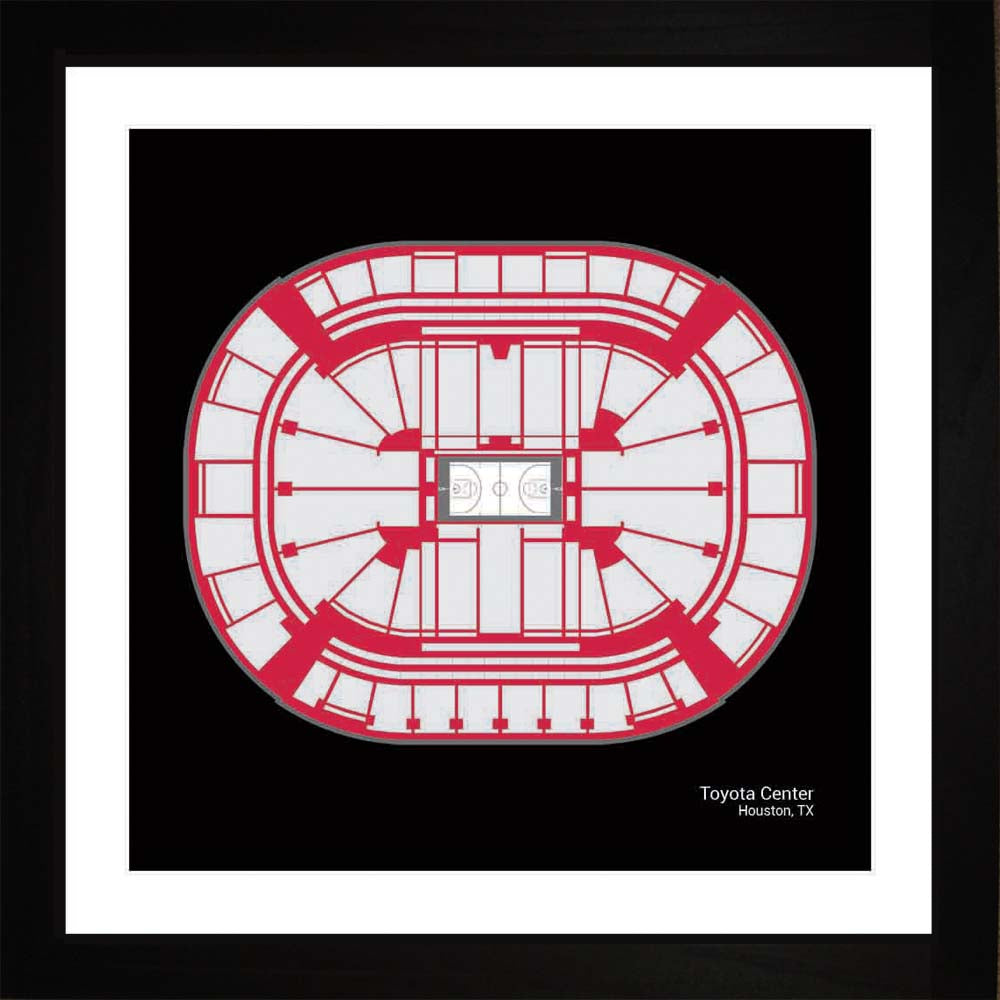 Toyota Center, Houston Rockets, 16x16