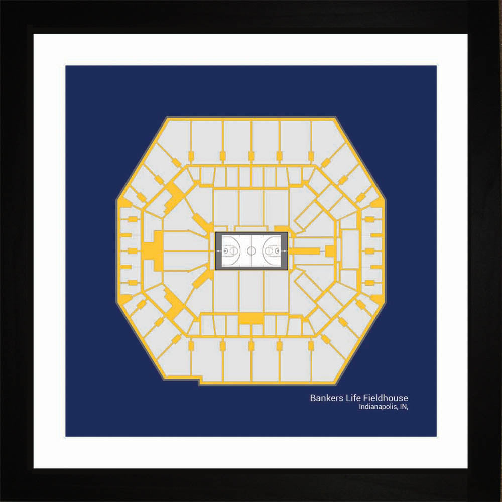 Bankers Life Fieldhouse, Indiana Pacers, 16x16
