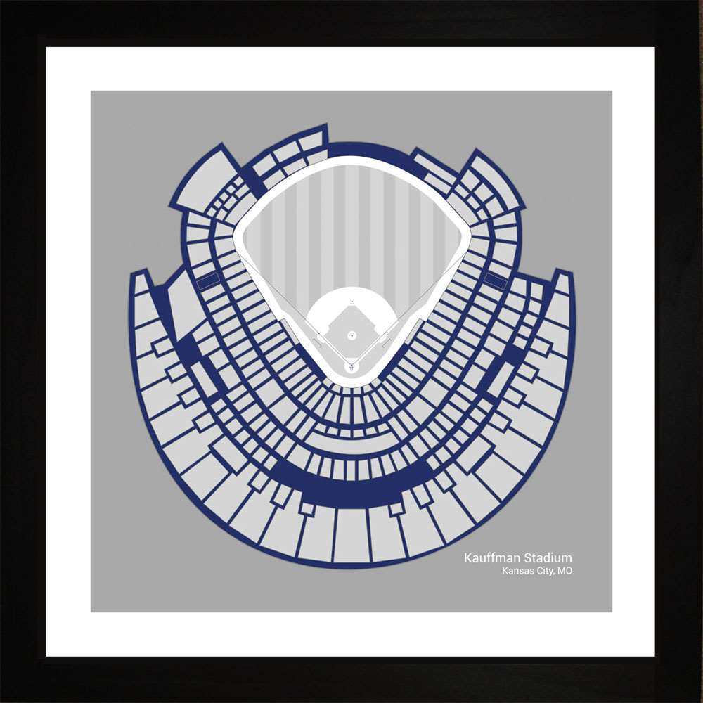 Kauffman Stadium, Kansas City Royals, 16x16