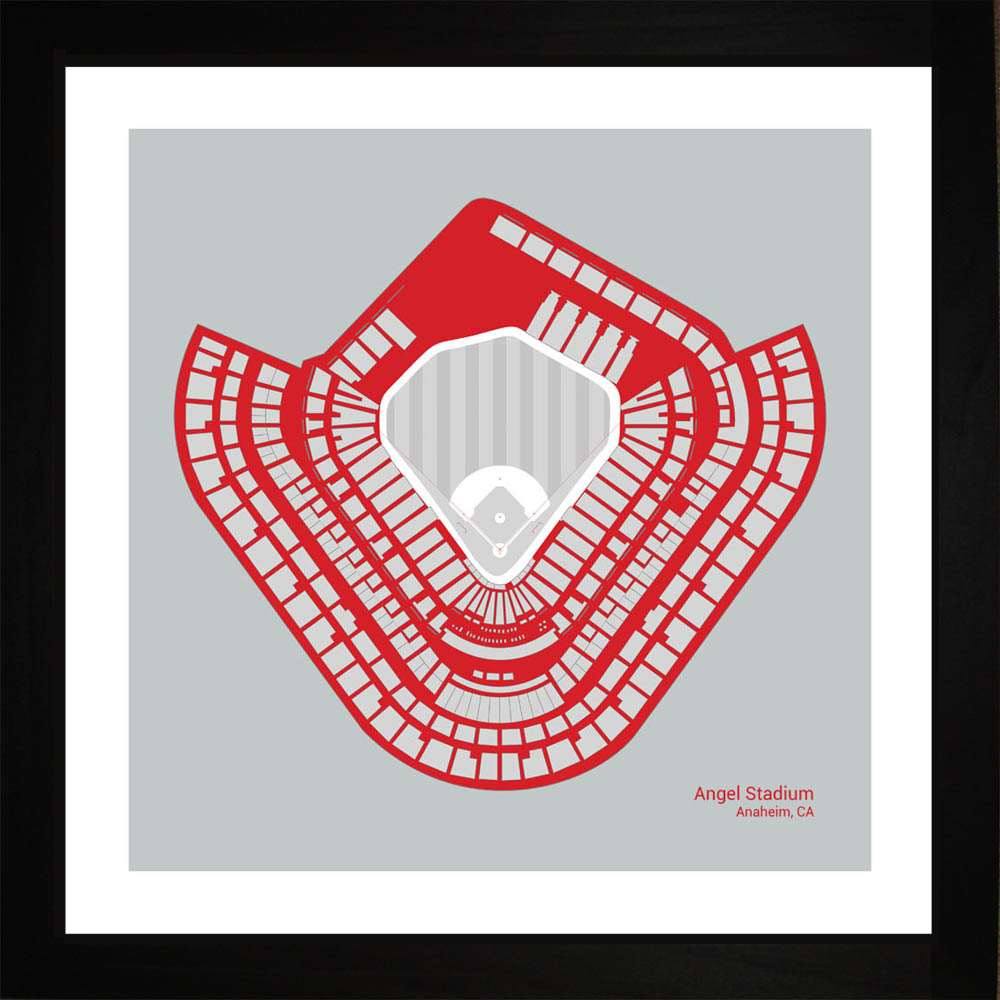 Angel Stadium, Los Angeles Angels, 16x16