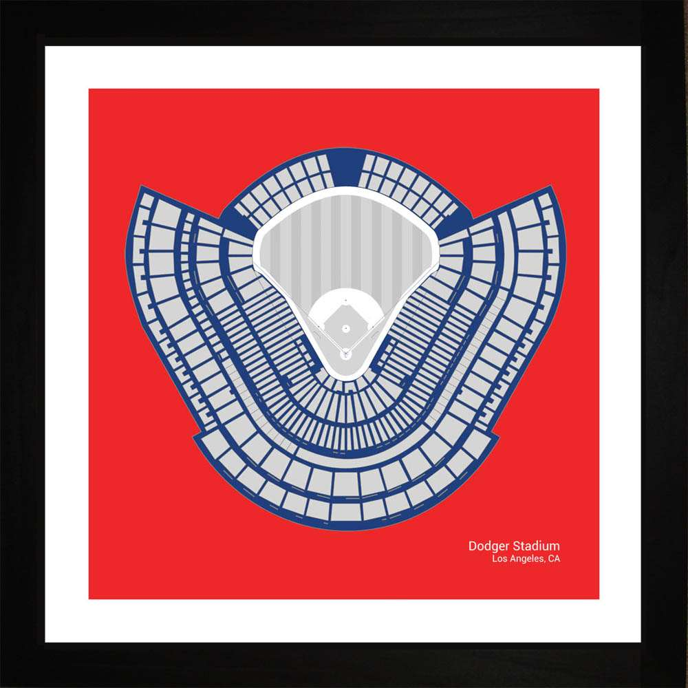 Dodger Stadium, Los Angeles Dodgers, 16x16