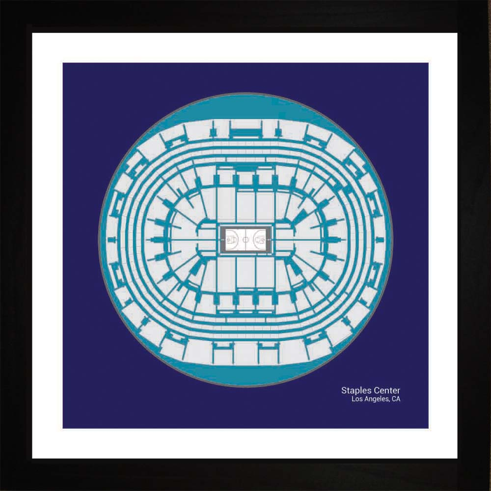 Staples Center, Los Angeles Lakers, 16x16