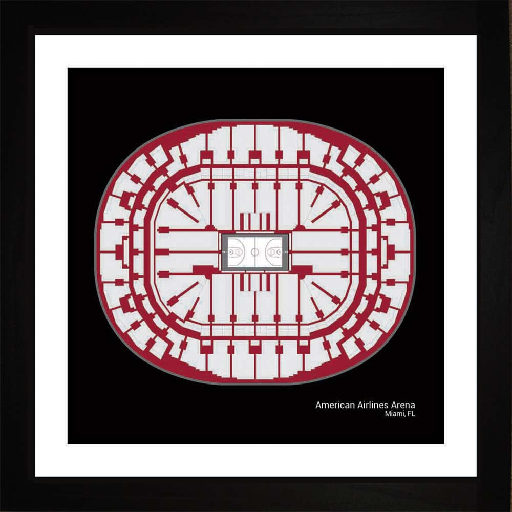 American Airlines Arena, Miami Heat, 16x16