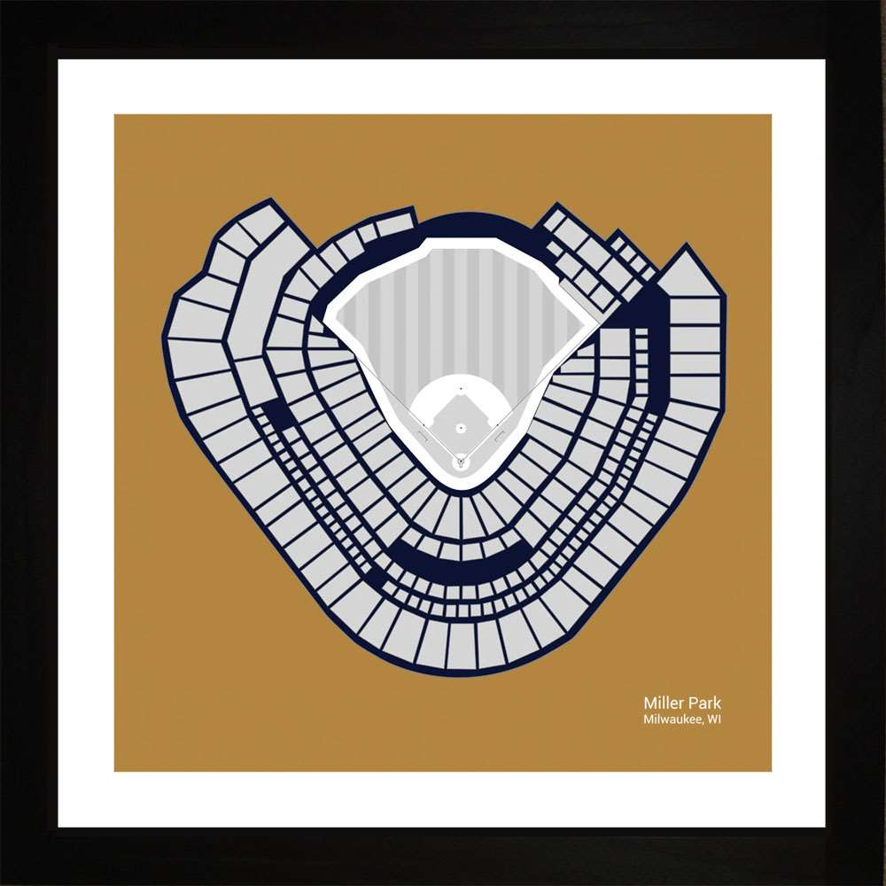 Miller Park, Milwaukee Brewers, 16x16