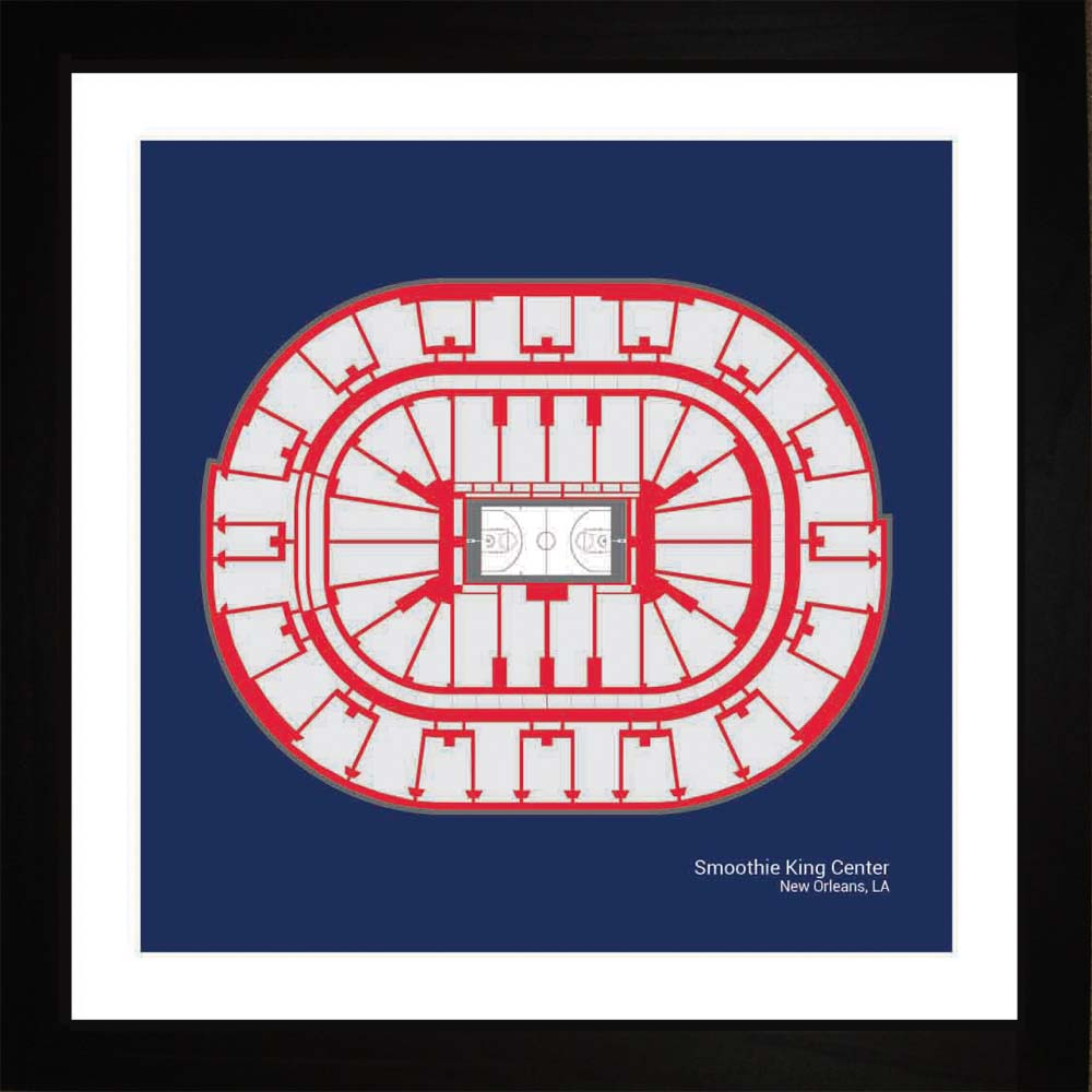 Smoothie King Center, New Orleans Pelicans, 16x16