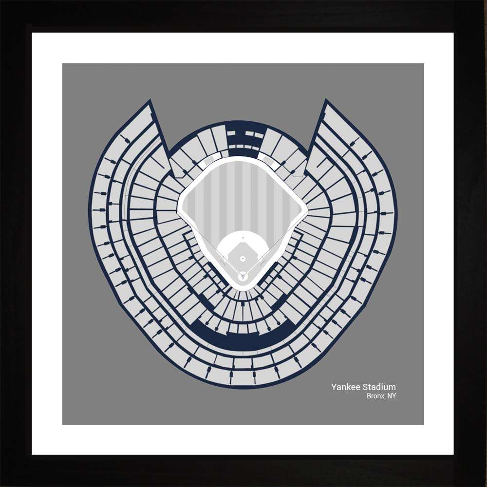 Yankee Stadium, New York Yankees, 16x16