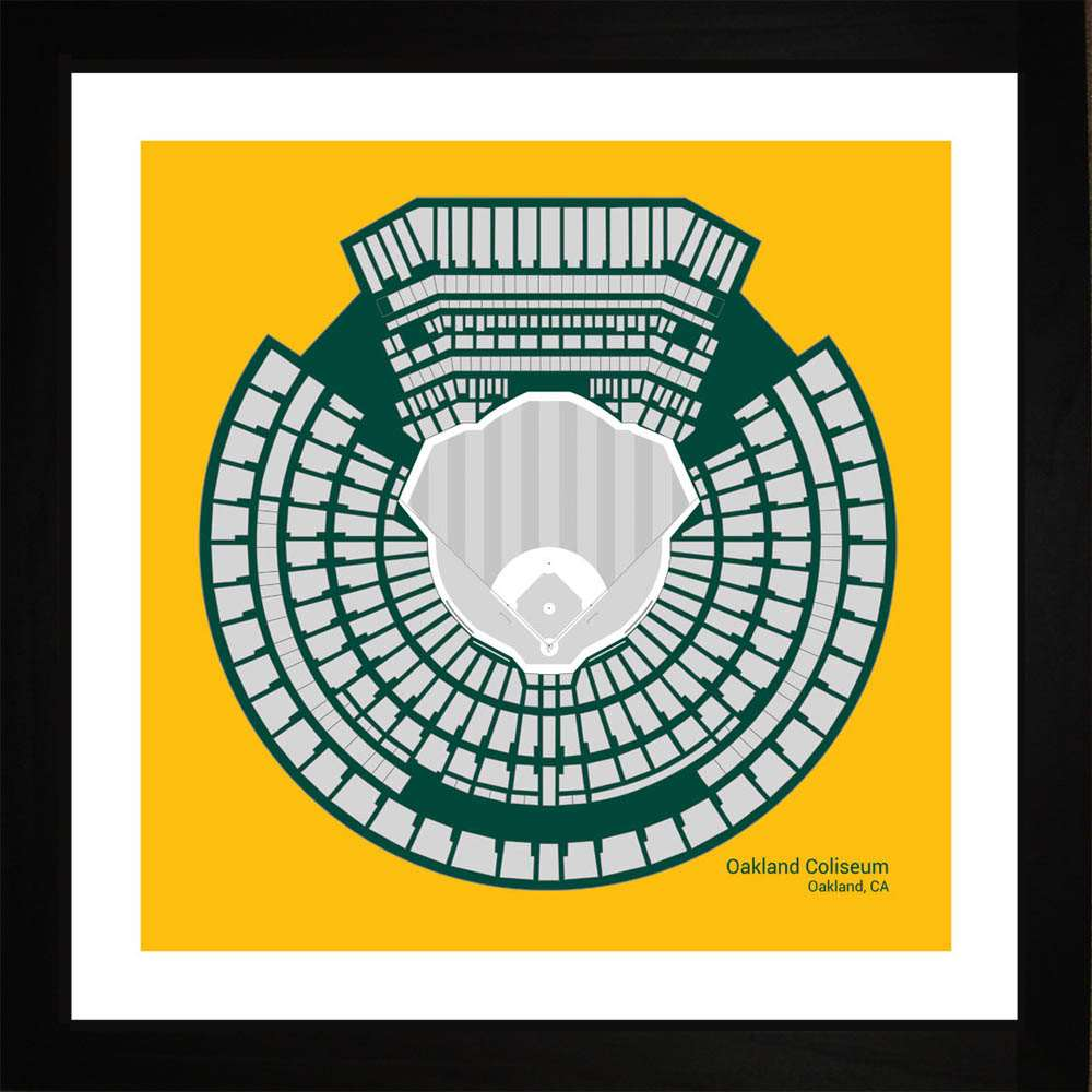 Oakland Coliseum, Oakland Athletics, 16x16