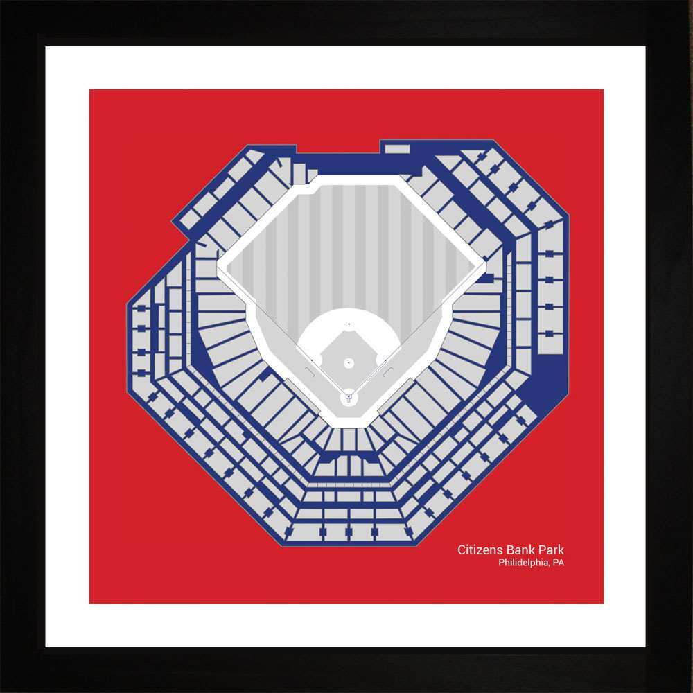 Citizens Bank Park, Philadelphia Phillies, 16x16