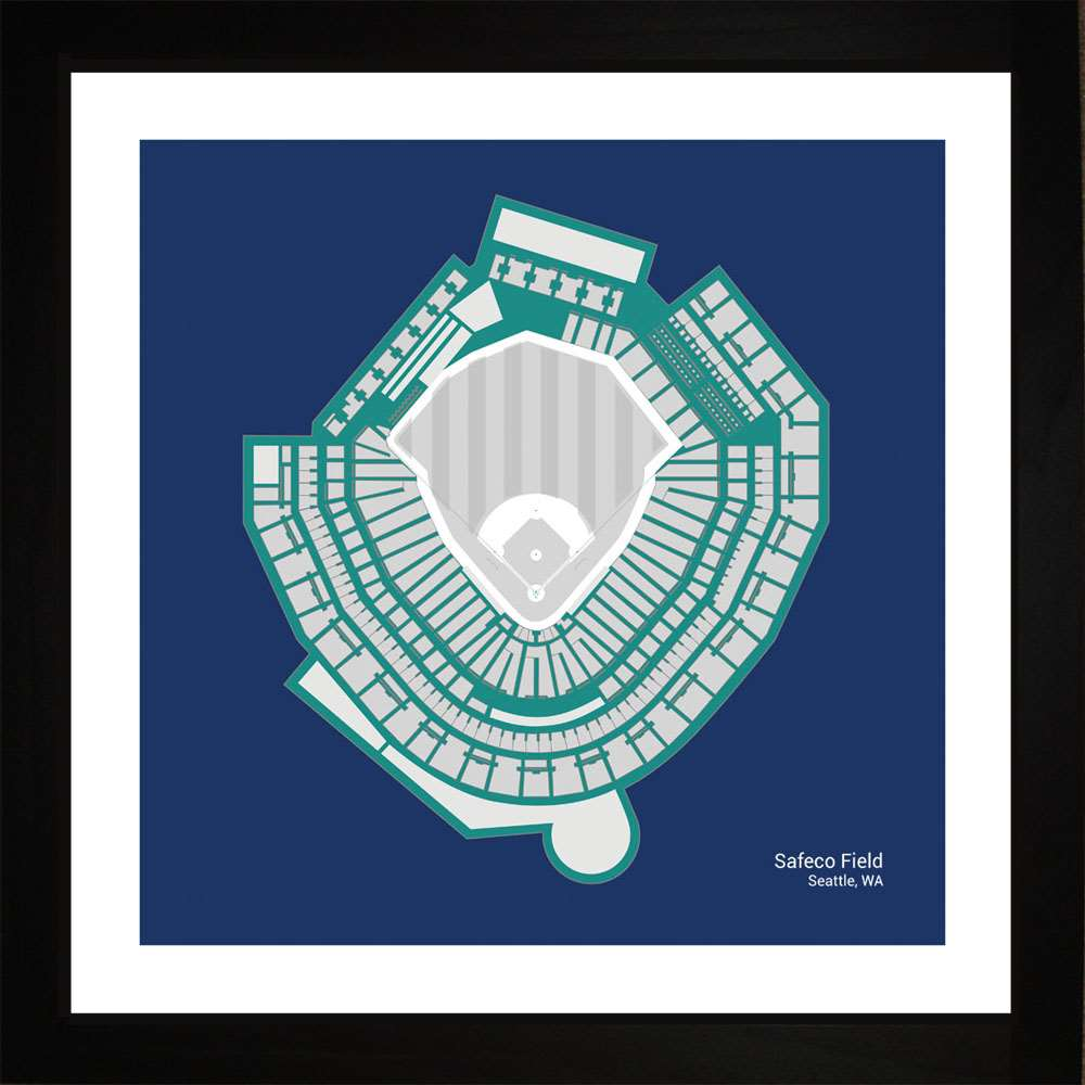 Safeco Field, Seattle Mariners, 16x16