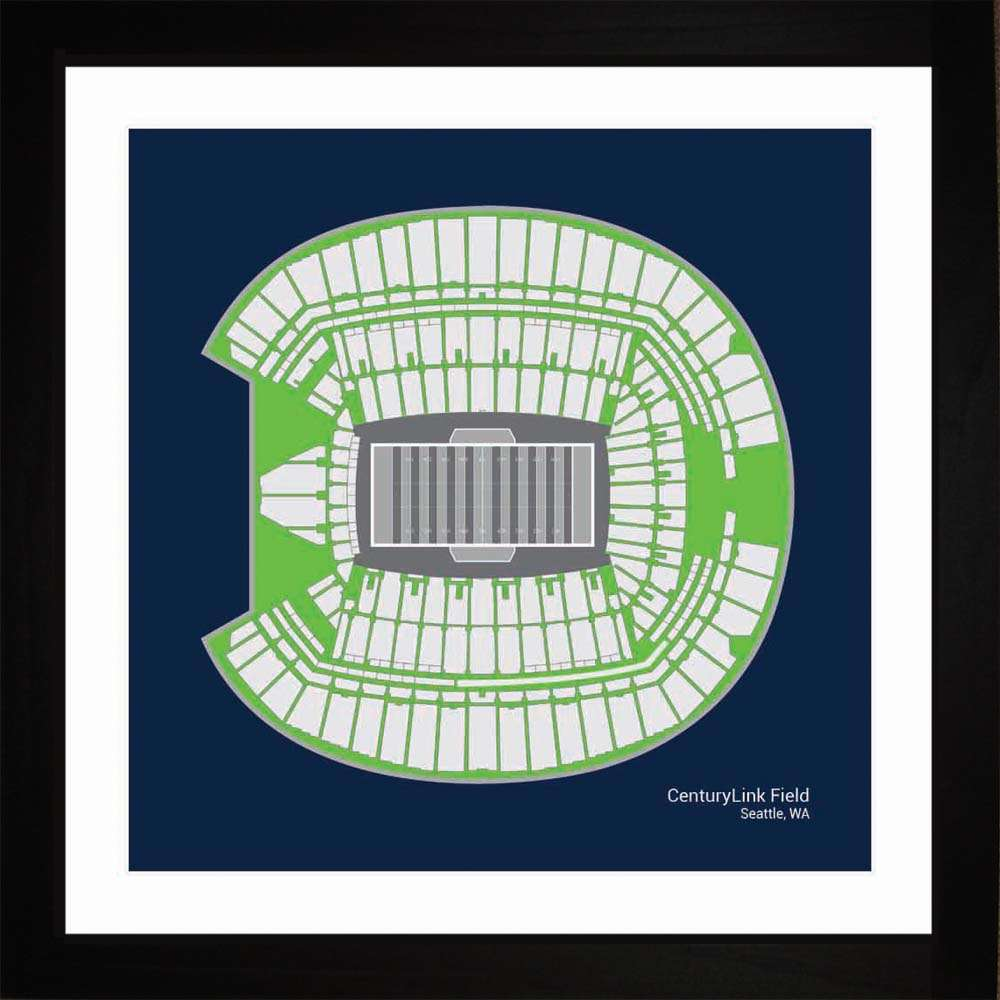 Century Link Field, Seattle Seahawks, 16x16