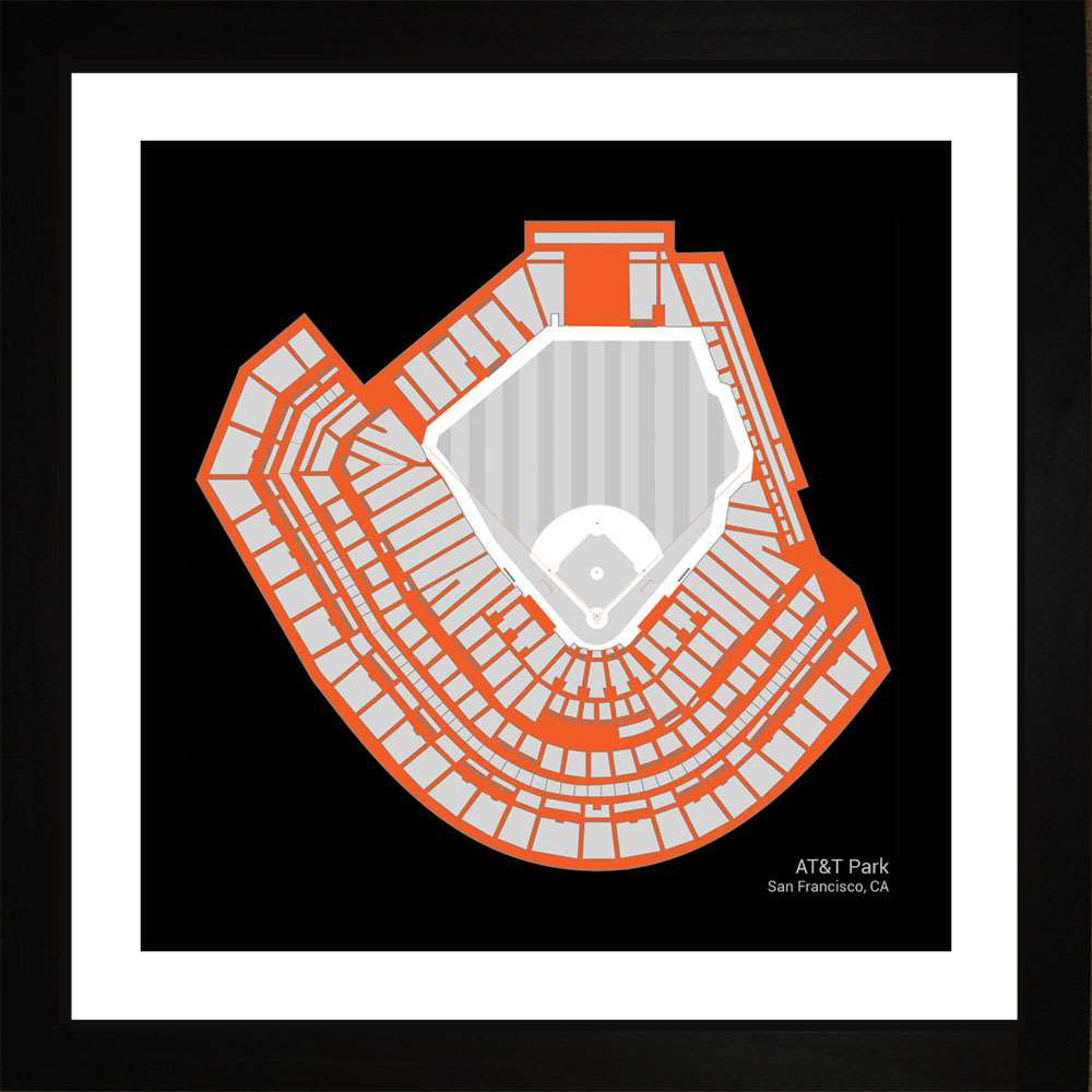 AT&T Park, San Francisco Giants, 16x16