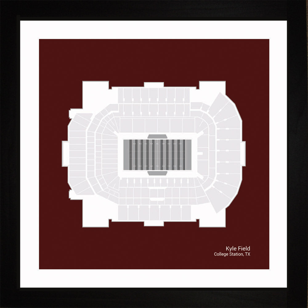 Kyle Field, Texas A&M Aggies, 16x16