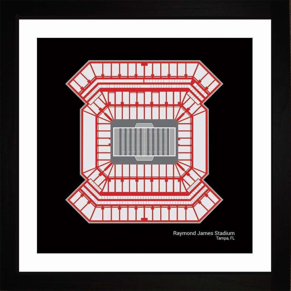 Raymond James Stadium, Tampa Bay Buccaneers, 16x16