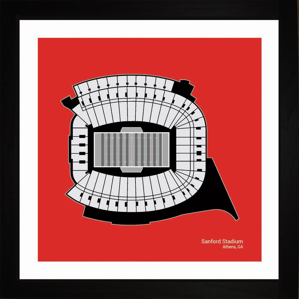 Sanford Stadium, Georgia Bulldogs, 16x16