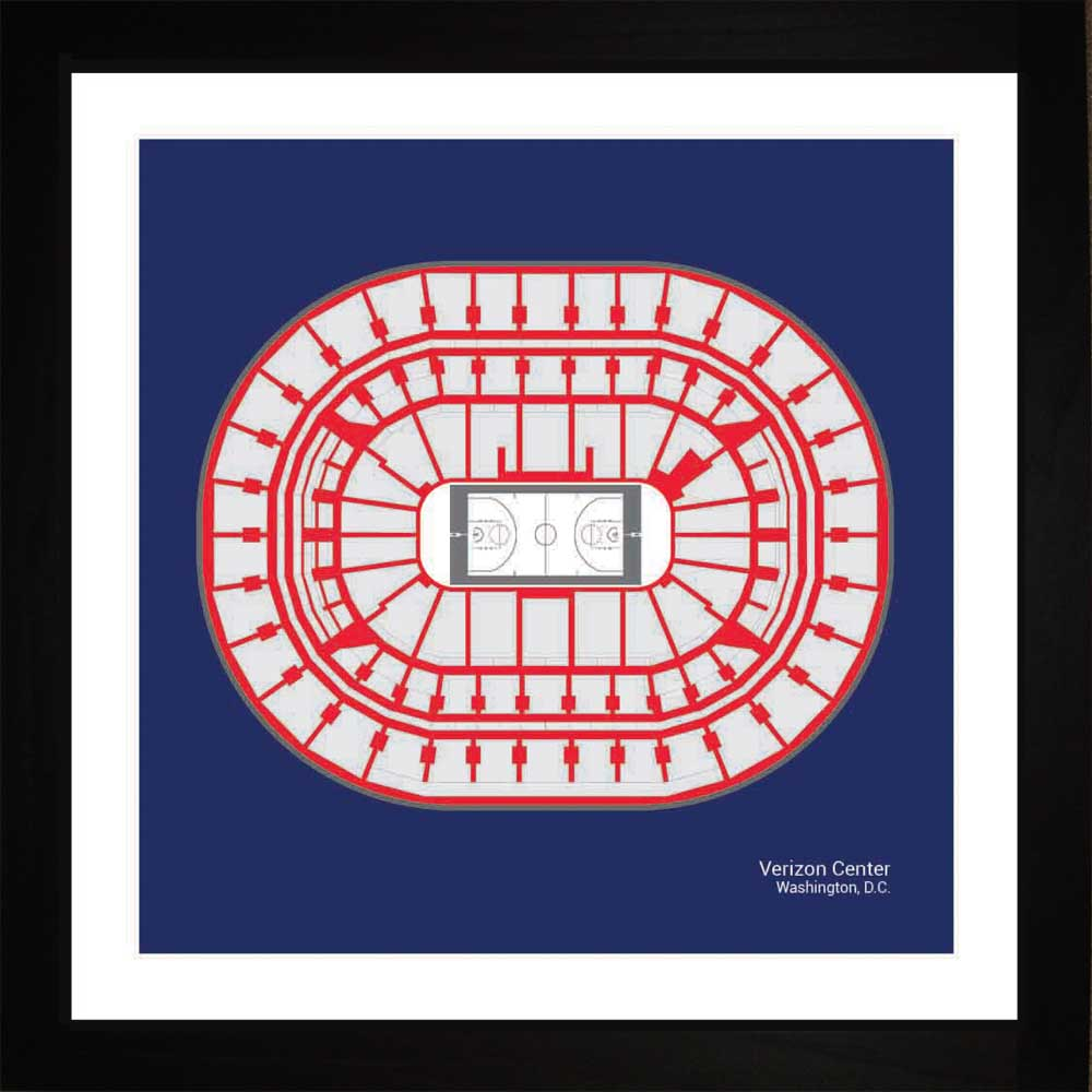 Capital One Arena, Washington Wizards, 16x16