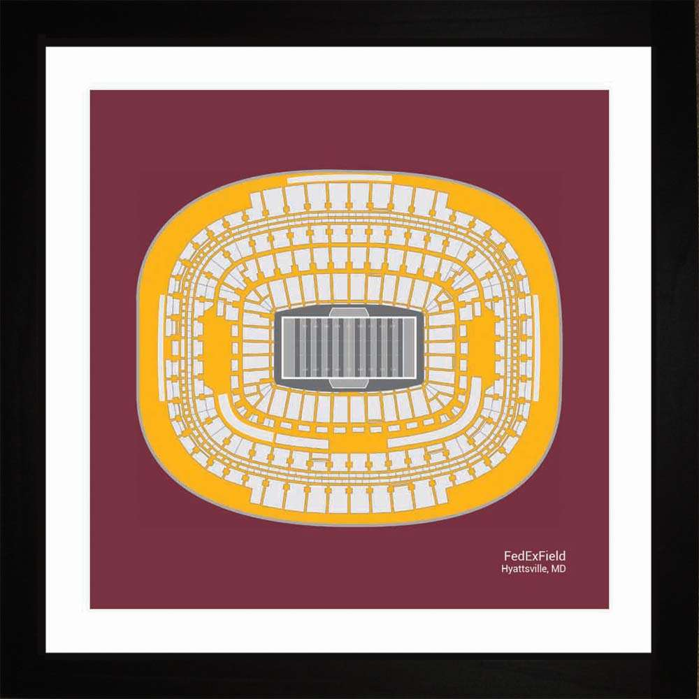 FedEx Field, Washington Football, 16x16