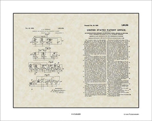 Synthesizer Patent, Art & Copy, Theremin, 1928, 16x20