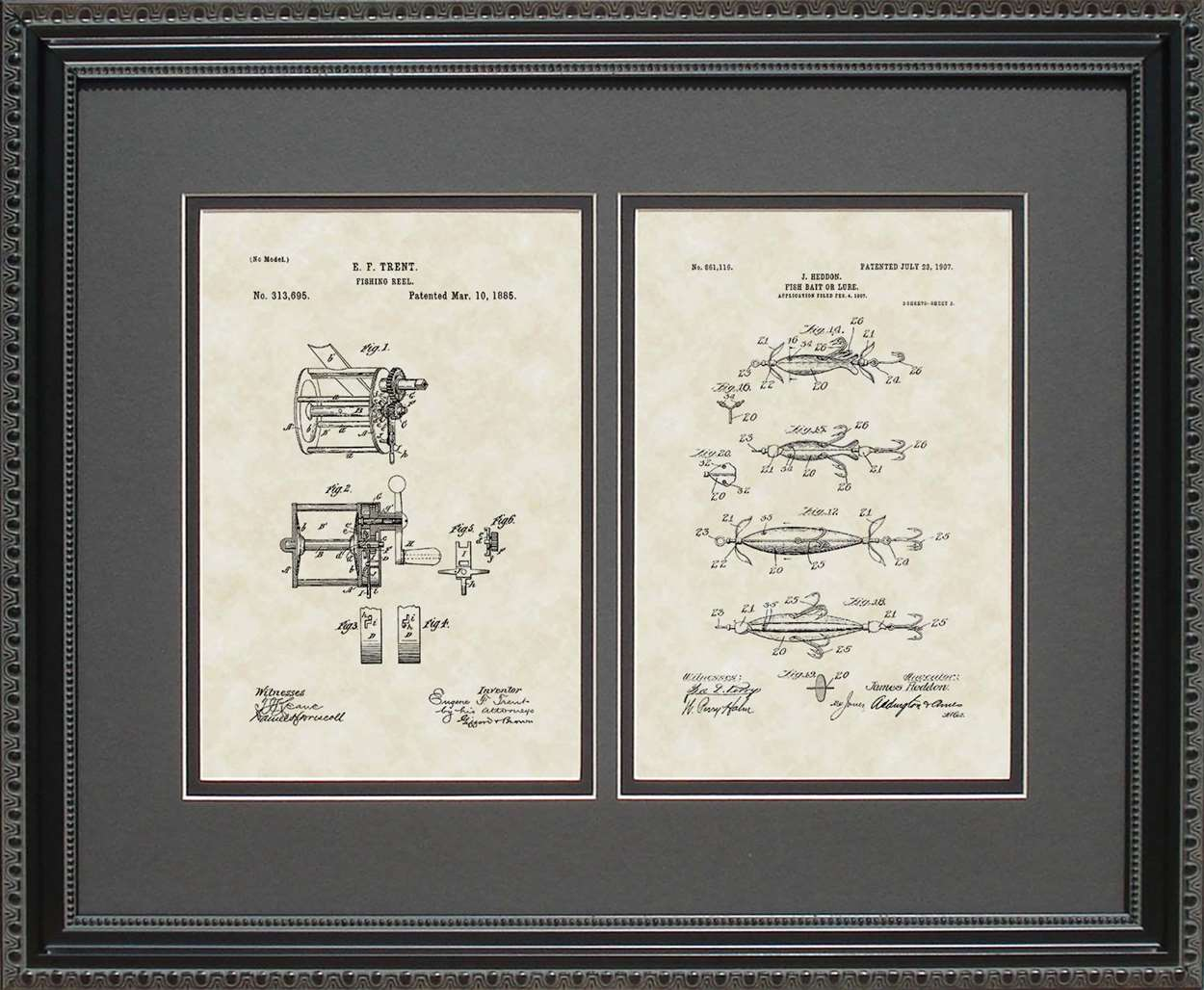 Fishing Reel & Lure Patents, 16x20