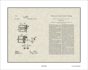 Fishing Reel Patent, Art & Copy, Trent, 1885, 16x20