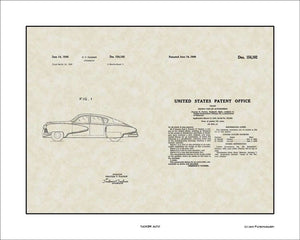 Tucker Auto Patent, Art & Copy, Tucker, 1949, 16x20