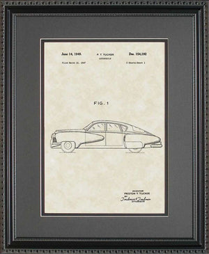 Tucker Auto Patent Art, Tucker, 1949