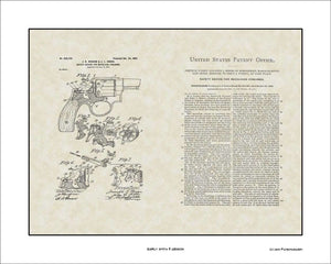 Early Smith & Wesson Patent, Art & Copy, Wesson, 1899, 16x20