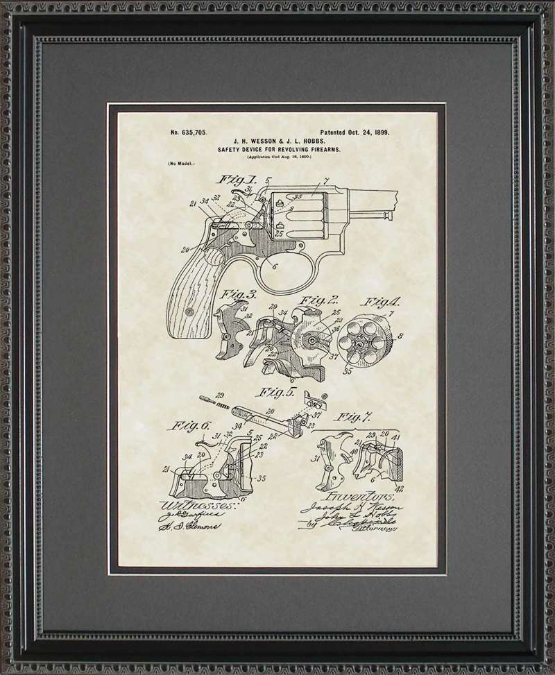 Early Smith & Wesson Patent Art, Wesson, 1899
