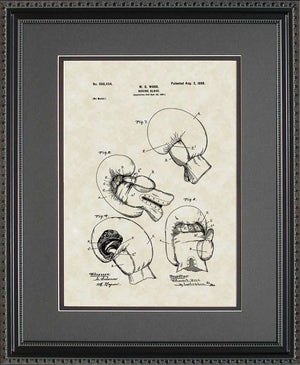 Boxing Gloves Patent Art, Wood, 1898