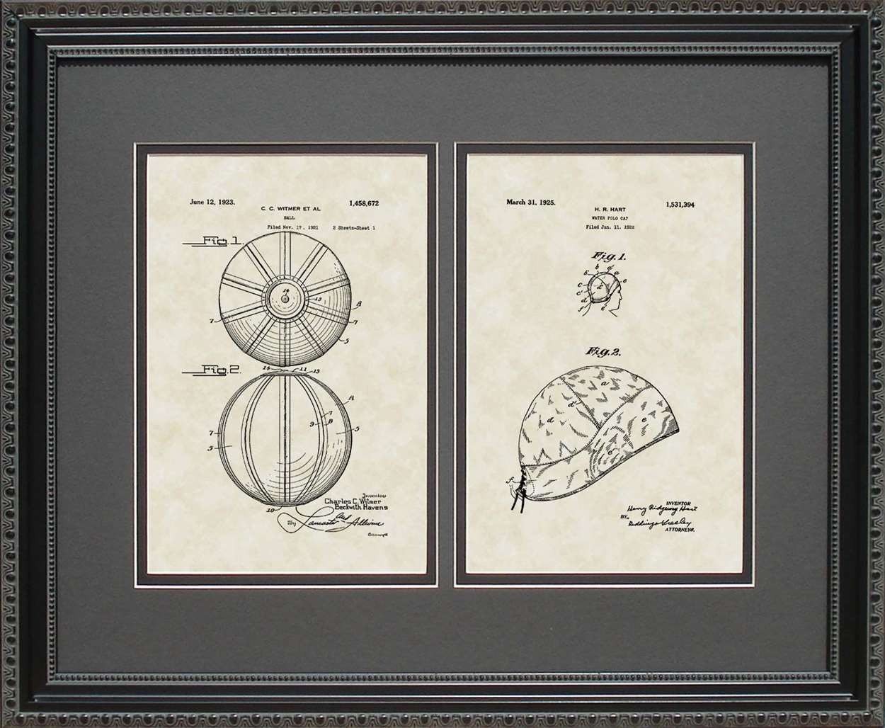 Water Polo Ball & Cap Patents, 16x20