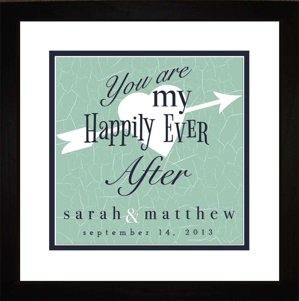 Happily Ever After Wedding Personalized Art, 16x16