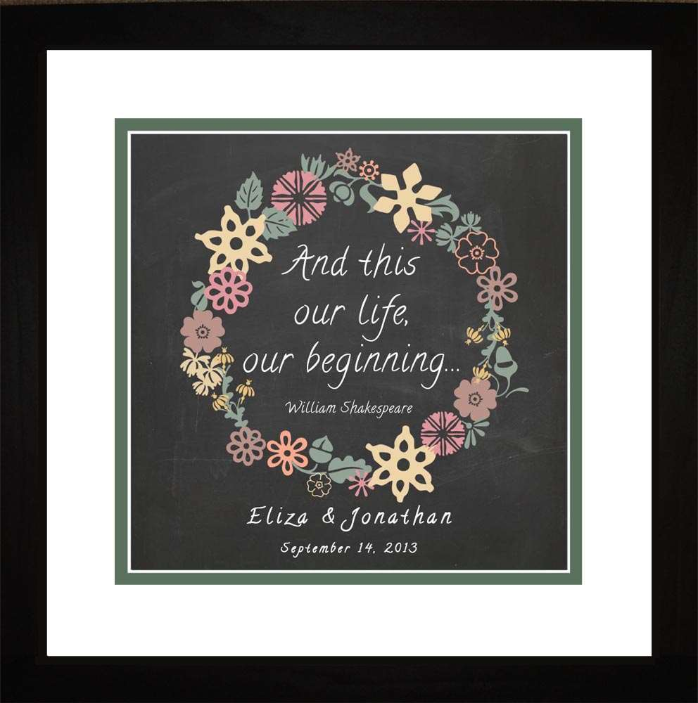 Our Life...Our Beginning Personalized Art, 16x16
