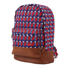 Load image into Gallery viewer, BACKPACK XTRA | canvas bakker & cuir - watanabe red | - bakker made with love
