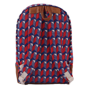 BACKPACK XTRA | canvas bakker & cuir - watanabe red | - bakker made with love