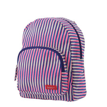Load image into Gallery viewer, BACKPACK MINI | canvas capsule - stripes geser pink | - bakker made with love