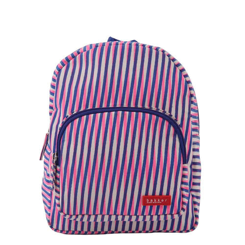 BACKPACK MINI | canvas capsule - stripes geser pink | - bakker made with love