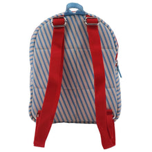 Load image into Gallery viewer, BACKPACK MINI | canvas capsule - stripes sky | - bakker made with love