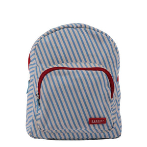 BACKPACK MINI | canvas capsule - stripes sky | - bakker made with love