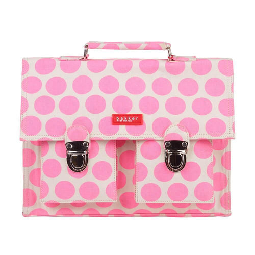 CARTABLE MINI BRETELLES | capsule - big dots pink | - bakker made with love