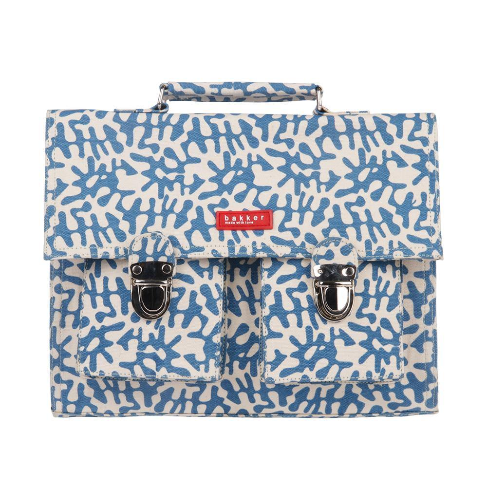 CARTABLE MINI BRETELLES | capsule - tropik blue | - bakker made with love