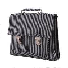 Load image into Gallery viewer, CARTABLE MINI BRETELLES | jean - jean stripes | - bakker made with love