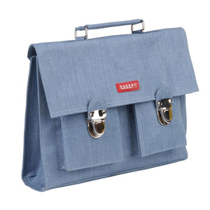 CARTABLE MINI BRETELLES | jean - light blue | - bakker made with love