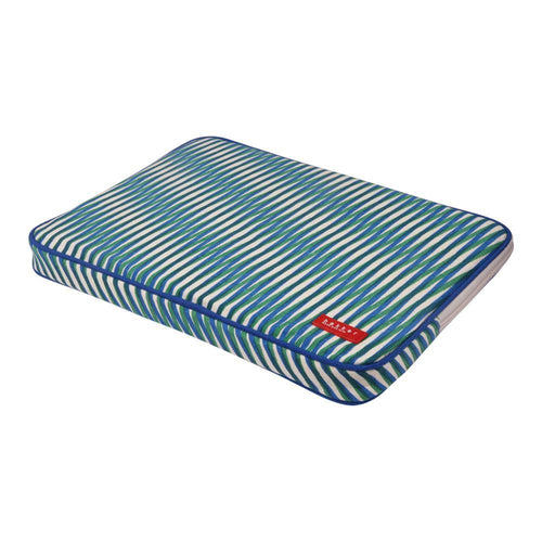 COMPUTER SLEEVE | laptop 13 inch case canvas capsule - stripes geser green | - bakker made with love