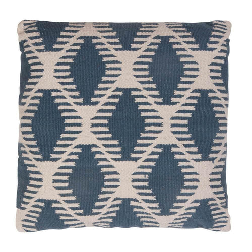 CUSHION | toubkal 45 x 45 cm | Diamond Teal Blue | - bakker made with love