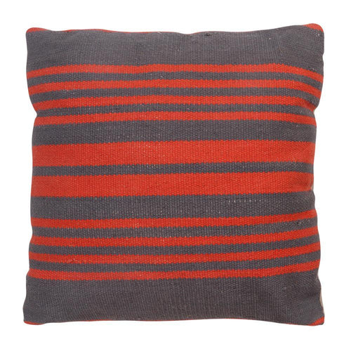 CUSHION | toubkal 45 x 45 cm | Stripes Grey/Red	| - bakker made with love