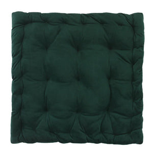 CUSHION | velvet meditation 40 × 40 cm | Dark green | - bakker made with love