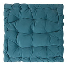 Load image into Gallery viewer, CUSHION | velvet meditation 40 × 40 cm | Turquoise | - bakker made with love